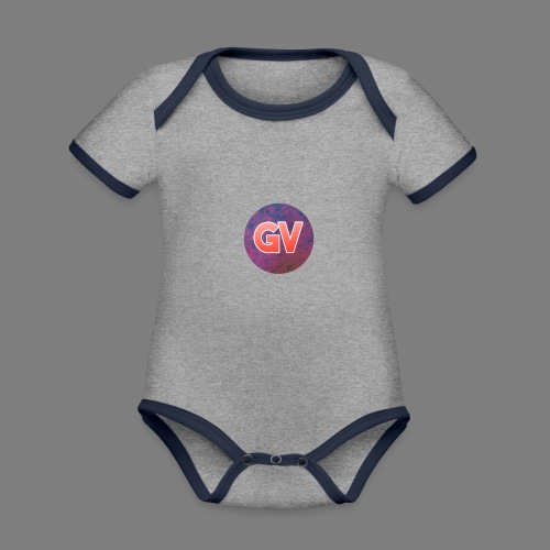 GV 2.0 - Baby contrasterend bio-rompertje met korte mouwen
