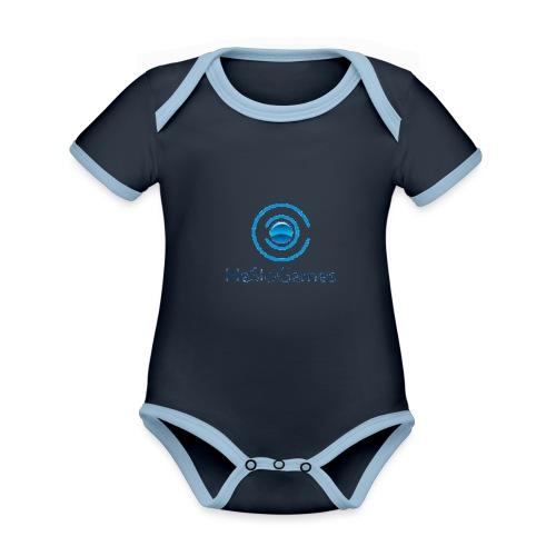 HasloGames Producten officieel logo - Baby contrasterend bio-rompertje met korte mouwen