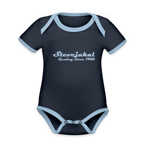 Stevejakal Merchandise - Baby Bio-Kurzarm-Kontrastbody