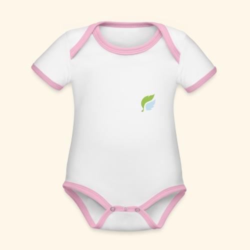 Akan White - Vauvan kontrastivärinen, lyhythihainen luomu-body