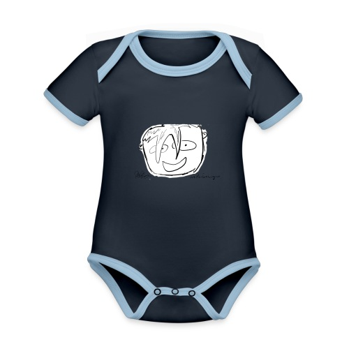 The Face Zoomed | Peter Eric Lang - Organic Baby Contrasting Bodysuit