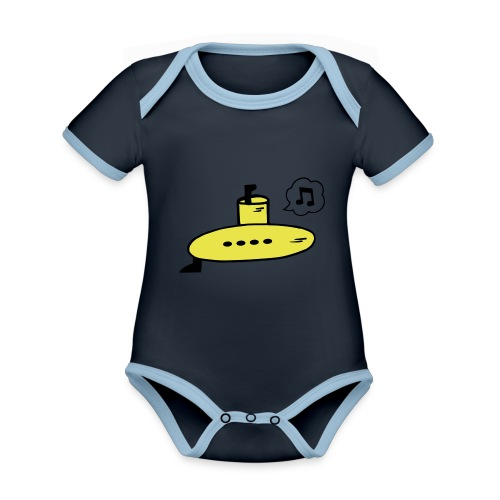 Singing Yellow Submarine - Organic Baby Contrasting Bodysuit