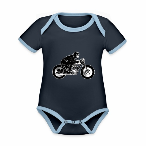 Cafe Racer 2c - Organic Baby Contrasting Bodysuit