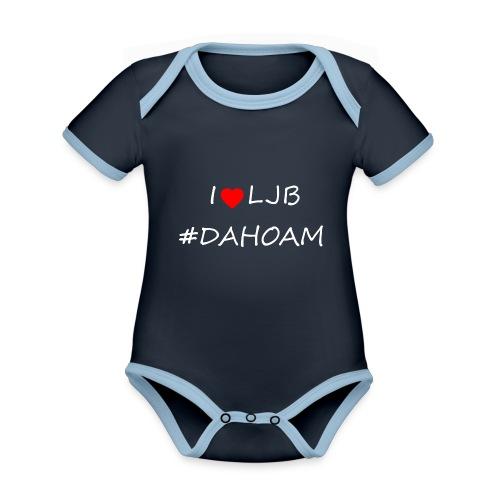 I ❤️ LJB #DAHOAM - Baby Bio-Kurzarm-Kontrastbody