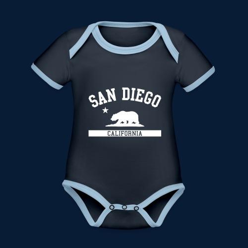 San Diego - Baby Bio-Kurzarm-Kontrastbody