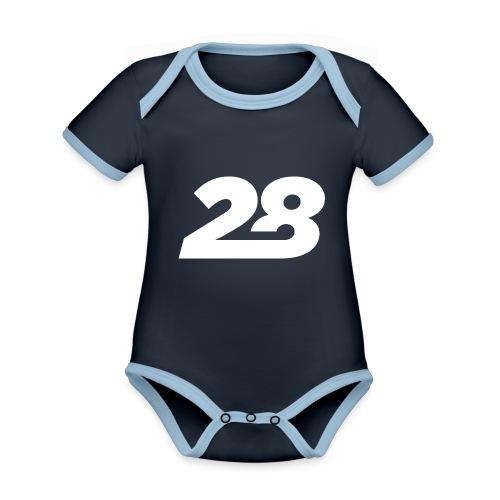 28 White - Organic Baby Contrasting Bodysuit