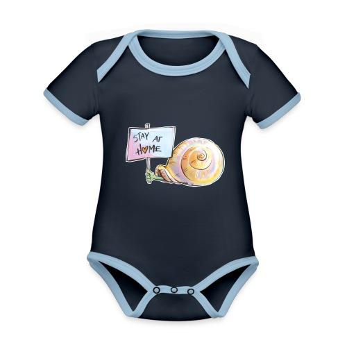 Stay at home - Baby Bio-Kurzarm-Kontrastbody
