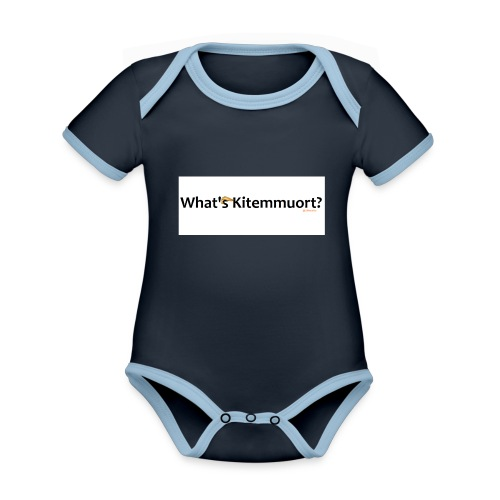 What'S Kitemmuort Trump - Body da neonato a manica corta, ecologico e in contrasto cromatico