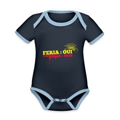 feria - Body Bébé bio contrasté manches courtes