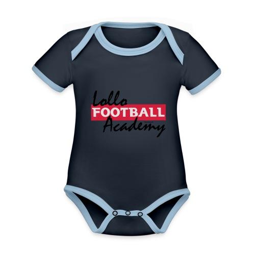 Hoodie - Lollo Academy - Ekologisk kontrastfärgad kortärmad babybody