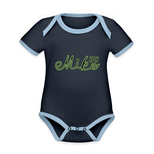 mike38teksti - Vauvan kontrastivärinen, lyhythihainen luomu-body
