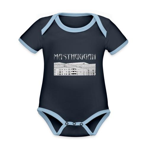 Masthuggah masthuggsterassen - Ekologisk kontrastfärgad kortärmad babybody