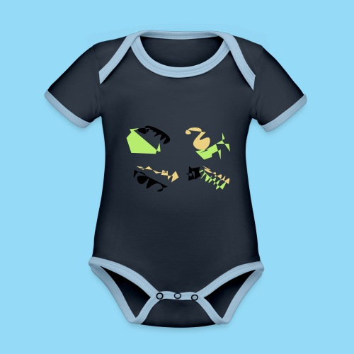 Abstracts & Colours - Organic Baby Contrasting Bodysuit