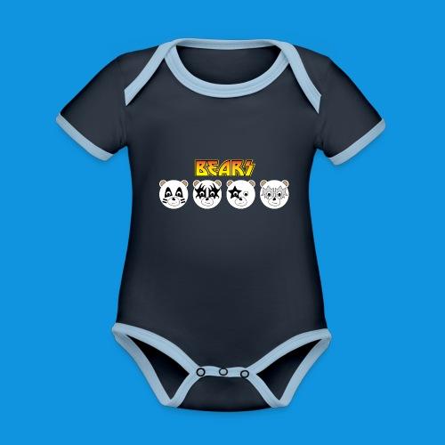 Kiss Bears.png - Organic Baby Contrasting Bodysuit