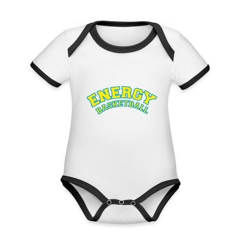eco logo energy basketball giallo - Body da neonato a manica corta, ecologico e in contrasto cromatico