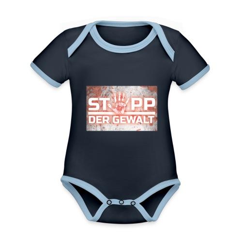 STOPP DER GEWALT - Organic Baby Contrasting Bodysuit