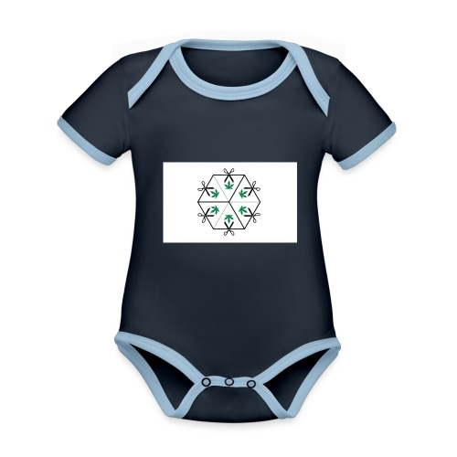 HighCube - Body da neonato a manica corta, ecologico e in contrasto cromatico