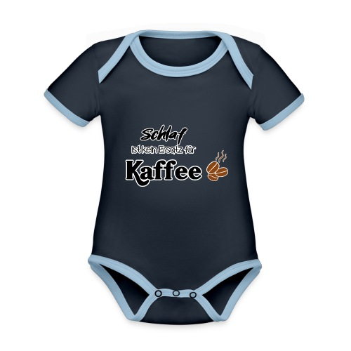 Schlafersatz - Baby Bio-Kurzarm-Kontrastbody