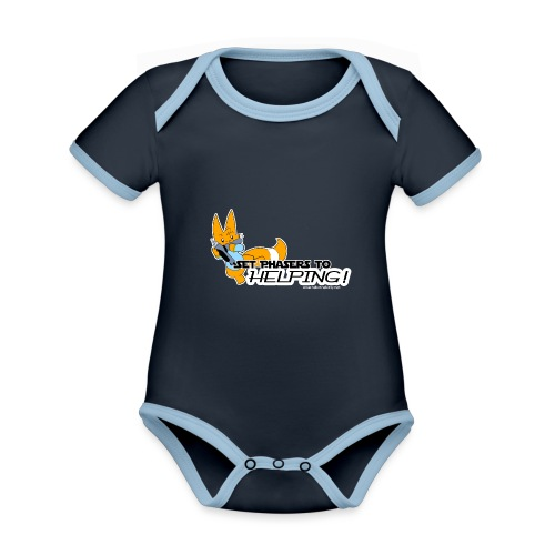 Set Phasers to Helping - Organic Baby Contrasting Bodysuit