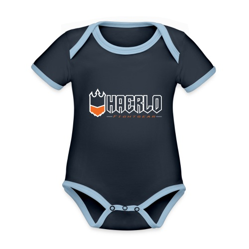 haerlo final - Baby contrasterend bio-rompertje met korte mouwen