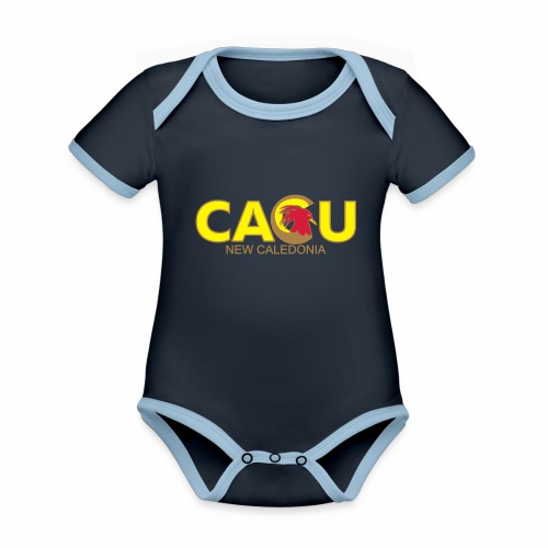 Cagu New Caldeonia - Body Bébé bio contrasté manches courtes