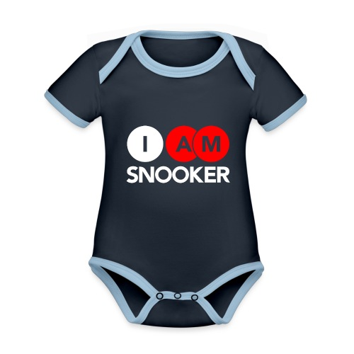 I AM SNOOKER - Organic Baby Contrasting Bodysuit
