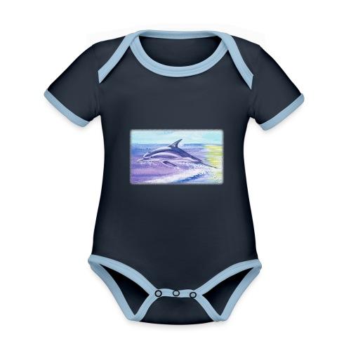 Engel der Meere - Baby Bio-Kurzarm-Kontrastbody
