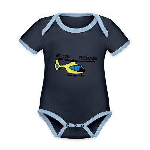 rescue - Baby Bio-Kurzarm-Kontrastbody