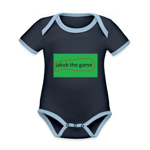 jakob the game - Kortærmet økologisk babybody i kontrastfarver
