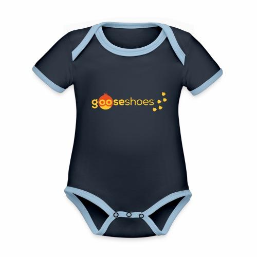 gooseshoes 01 - Baby Bio-Kurzarm-Kontrastbody