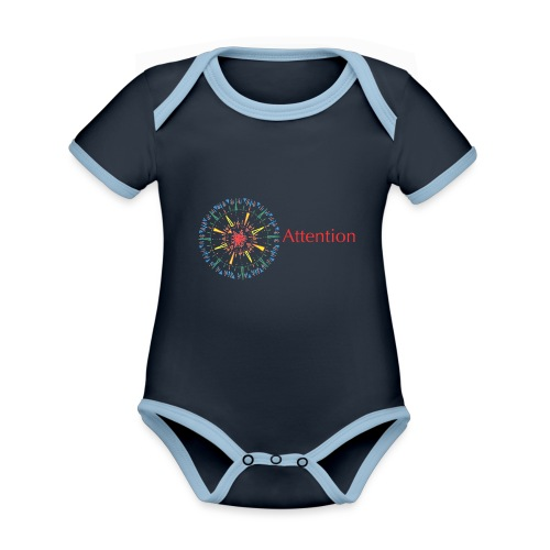 Attention - Organic Baby Contrasting Bodysuit