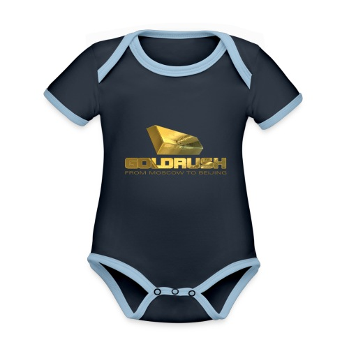 GOLDBARREN - GOLDRUSH - From moscow to beijing - Baby Bio-Kurzarm-Kontrastbody