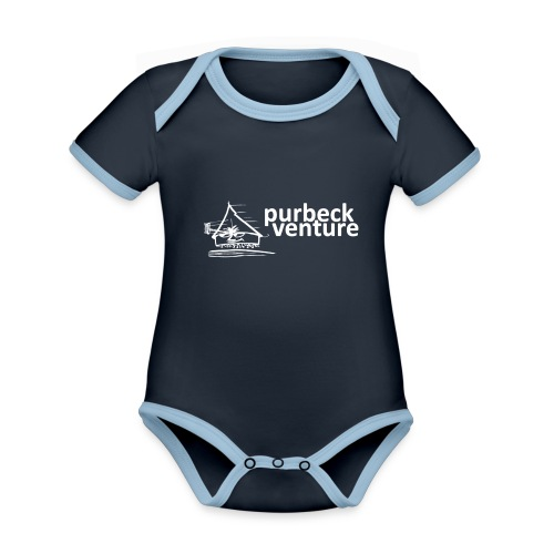 Purbeck Venture Active white - Organic Baby Contrasting Bodysuit
