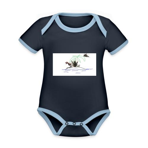 dino - Body contraste para bebé de tejido orgánico