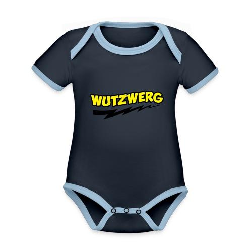 Wutzwerg - Baby Bio-Kurzarm-Kontrastbody