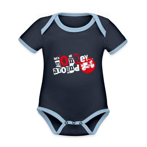 Monkey Around T-Shirt - Organic Baby Contrasting Bodysuit