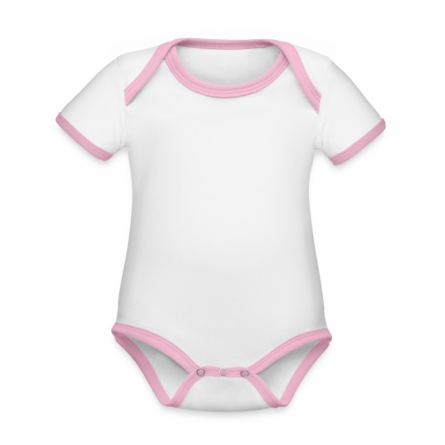 Majo Raw - Ekologisk kontrastfärgad kortärmad babybody