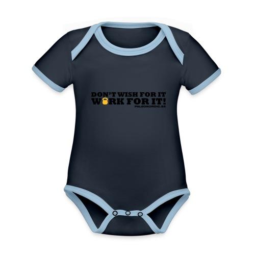 workforitsmal - Ekologisk kontrastfärgad kortärmad babybody