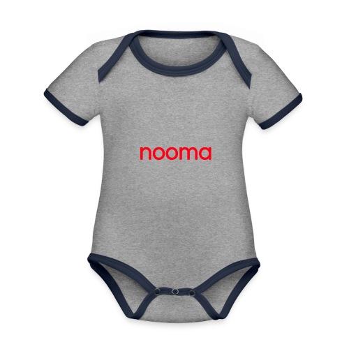 Nooma - Baby contrasterend bio-rompertje met korte mouwen