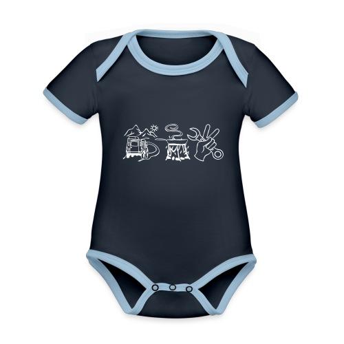 fahrenessenschrauben - Baby Bio-Kurzarm-Kontrastbody