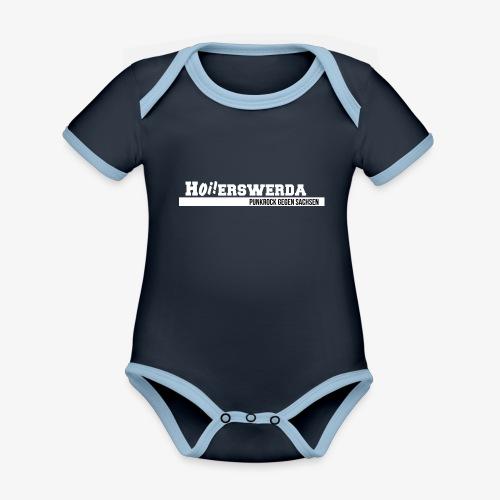 Logo Hoierswerda transparent - Baby Bio-Kurzarm-Kontrastbody