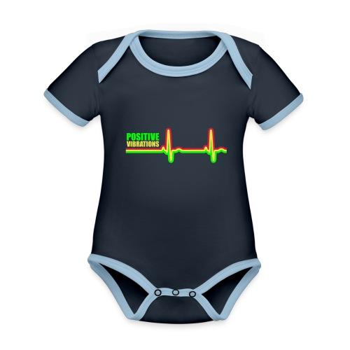 POSITIVE VIBRATION - Organic Baby Contrasting Bodysuit