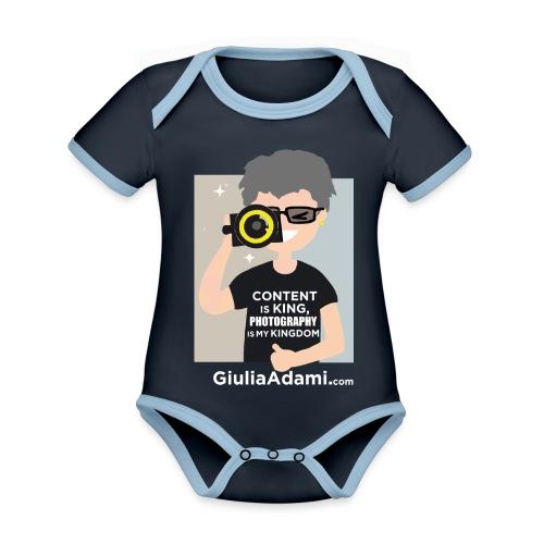 Giulia Adami - Body da neonato a manica corta, ecologico e in contrasto cromatico