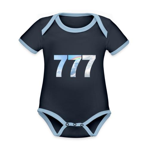 777 un nombre de chance et spirituel. - Body Bébé bio contrasté manches courtes