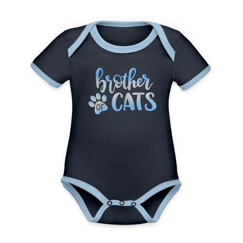 brother of cats - Baby Bio-Kurzarm-Kontrastbody