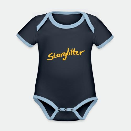Starglitter - Lettering - Organic Baby Contrasting Bodysuit