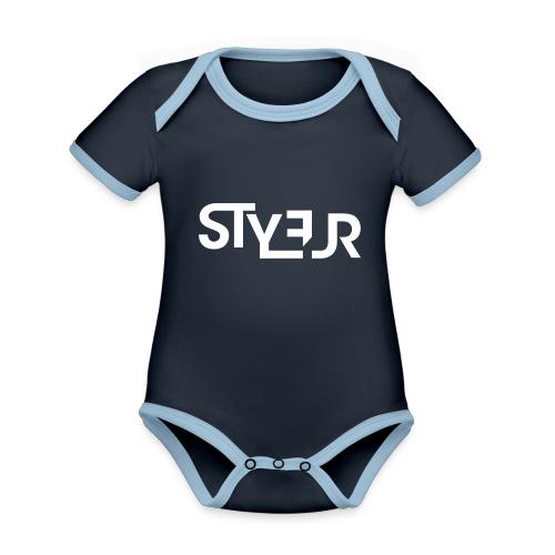 styleur logo spreadhsirt - Baby Bio-Kurzarm-Kontrastbody