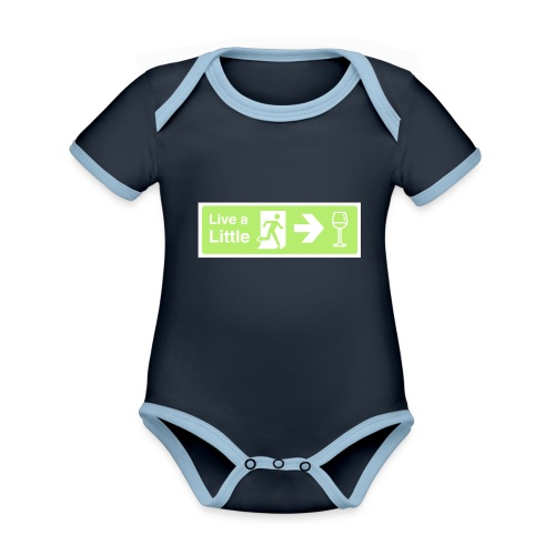 Live a little - Organic Baby Contrasting Bodysuit