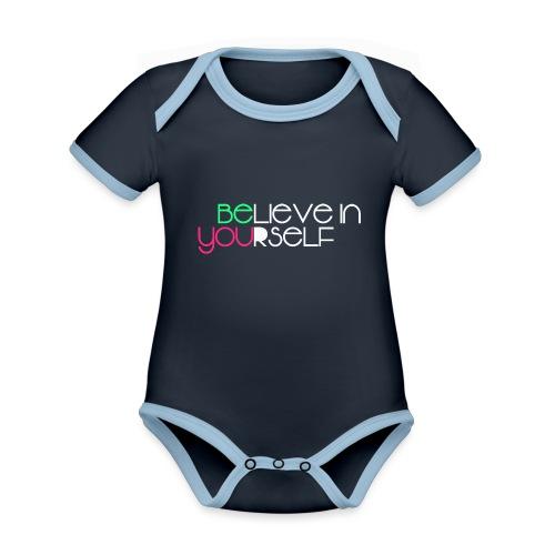 be you - Body da neonato a manica corta, ecologico e in contrasto cromatico