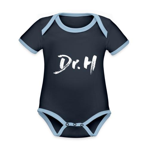 Sweat-Shirt Dr. H classique - Body Bébé bio contrasté manches courtes
